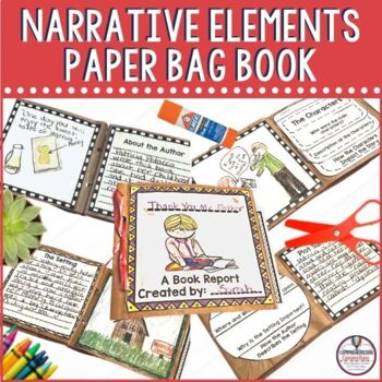 Students love hands on activities, and this paper bag book includes work with characters, setting and plot with extended writing opportunites. It includes a little artwork and practice with meaning.