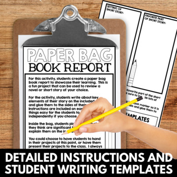 Paper Bag Book Report: Fun Project for ANY Novel or Short Story!