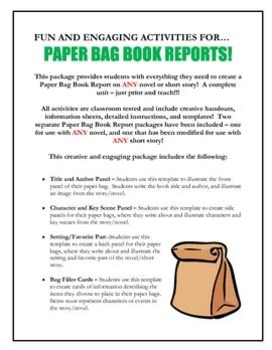 paper bag book report project Directions for paper bag book report page history last edited by nikki_boccaleoni 4 years, 1 month ago paper this is a project that is to be done at home.