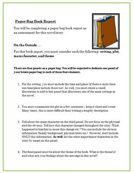 paper bag book report and rubric language arts grades 6 9 by