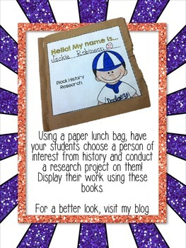 Paper Bag Book Research Biography - Famous People