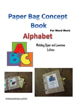 Paper Bag Book for Word Work  Alphabet