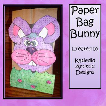 Paper Bag Bunny Art Projrect