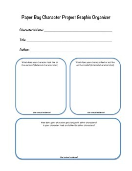 Paper Bag Character Project, Checklist & Rubric
