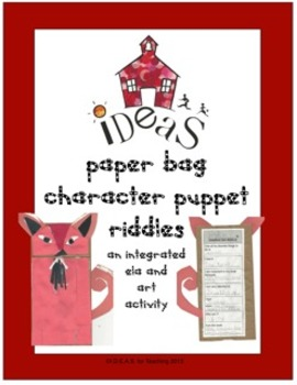 Paper Bag Character Puppet Riddles ELA/Art Integrated and Common Core Aligned
