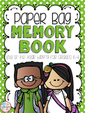 End of Year Memory Paper Bag Book