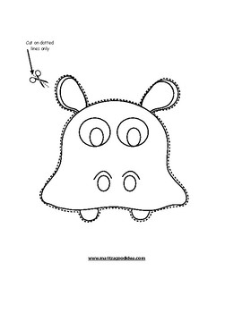 Paper Bag Hippo Puppet