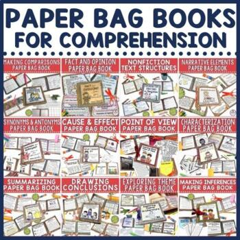 With testing season just around the corner, you'll find this paperbag book bundle especially handy in preparing your students for each reading skill. Make them during your small group instruction or as practice in your literacy stations. They provide a great blend of fun with quality instruction and practice.