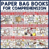 Paper Bag Book Bundle for Comprehension #tptgoesgold