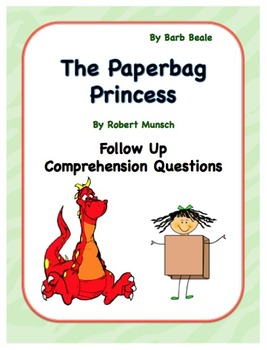 paper bag princess language activities 8 pages by barb beale tpt. Black Bedroom Furniture Sets. Home Design Ideas
