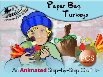 Paper Bag Turkeys - Animated Step-by-Step Craft PCS Symbols