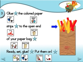 Paper Bag Turkeys - Animated Step-by-Step Craft - SymbolStix