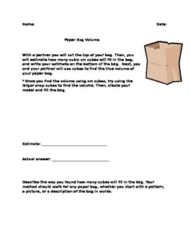 Paper Bag Volume