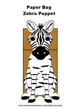 Paper Bag Zebra Puppet
