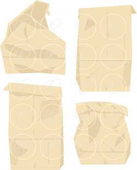 Paper Bags & Tags Clipart by Poppydreamz Lunch Sacks