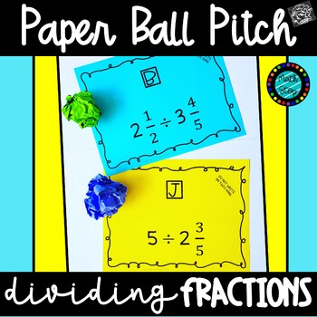 Paper Ball Pitch Dividing Fractions Game