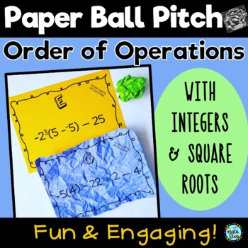 Paper Ball Pitch Order of Operations with Integers & Square Roots