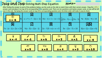 Paper Ball Pitch Solving Multi-Step Equations variables on both sides