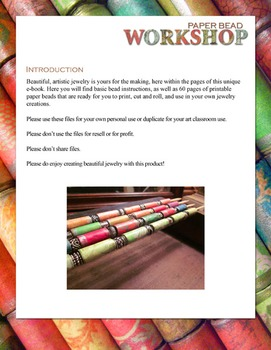 Paper Bead Workshop Two