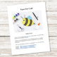 Paper Bee Craft (Summer)