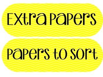 Paper Bin Labels