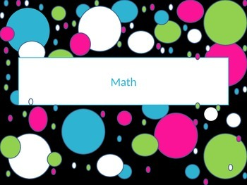 Paper Bin Labels neon colors with polka dot borders