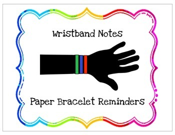 Paper Bracelet Reminders