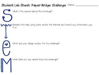Paper Bridges: Engineering Challenge Project ~ Great STEM Activity!