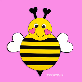 Paper Bumble Bee Template