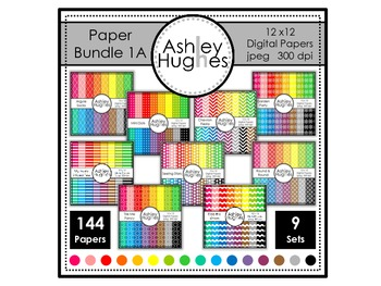 Paper Bundle 1A {12x12 Digital Papers for Commercial Use}