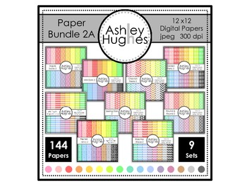 Paper Bundle 2A {12x12 Digital Papers for Commercial Use}