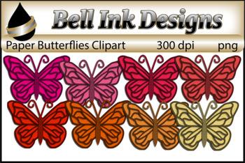 Paper Butterflies Clipart