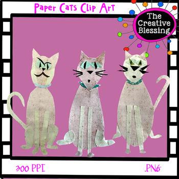 Paper Cat Clip Art