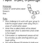 Paper Chain Challenge - STEM Activity