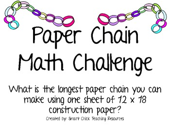 Paper Chain Math Challenge Project