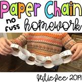 Paper Chain No-Fuss Homework Kindergarten