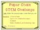 Paper Chain STEM