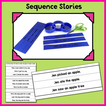 Paper Chains Sequencing Center: fine motor, math, and reading practice