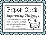 Paper Chair: Engineering Challenge Project ~ Great STEM Activity!