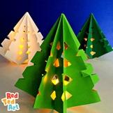 Paper Christmas Tree Decoration & Luminary - Paper Folding