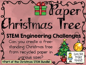 Christmas Stem Challenges.Paper Christmas Tree Stem Engineering Challenges Pack Christmas Stem