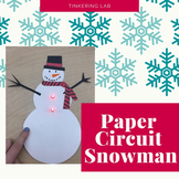 Paper Circuit Snowman with Template