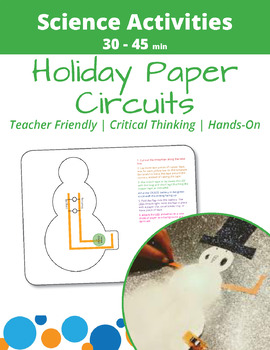 Paper Circuit Snowman - FREE Holiday Printable