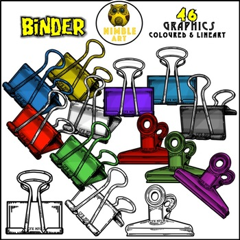 Binder Clips Clipart (Stationeries)