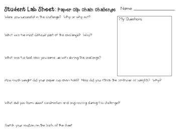 Paper Clip Chain: Engineering Challenge Project ~ Great STEM Activity!