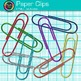 Rainbow Paper Clips Clip Art {Back to School Supplies for Classroom Resources}