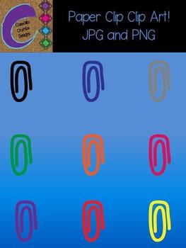 Paper Clip Clip Art Color Images Designs