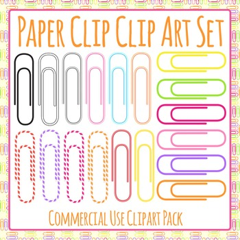 Paper Clip Clip Art Pack for Commercial Use