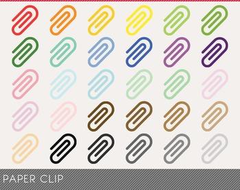 Paper Clip Digital Clipart, Paper Clip Graphics, Paper Clip PNG