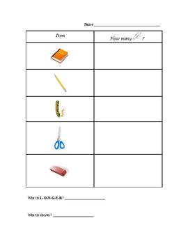Paper Clip Measuring Chart